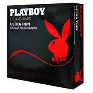 Prezerwatywy Playboy Ultra Thin 3 szt. cienkie ścianki, nawilżane