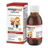 Omegamed Odporność syrop w butelce wzmacniający odporność z naturalnym DHA, D3 i witaminą C