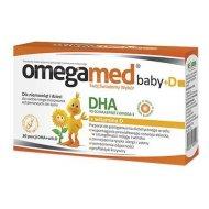 Omegamed Baby+D czyste DHA z witaminą D wspomaga prawidłowy rozwój dziecka kapsułki