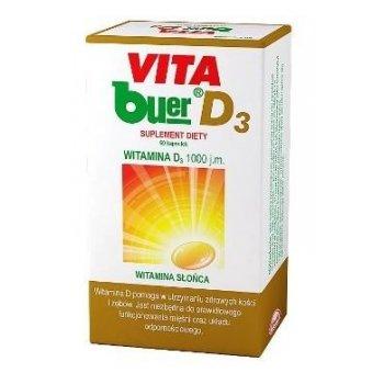 VITA buer D3 cholekalcyferol 60 kapsułek