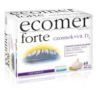 Ecomer FORTE wzmacnia system odpornościowy organizmu czosnek + witamina D3