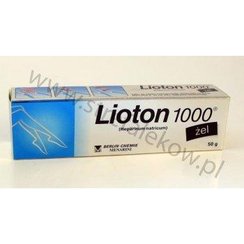 Lioton 1000 żel z heparyną na żylaki