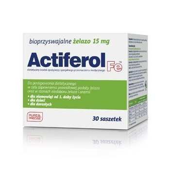 Actiferol Fe 15 mg żelazo w saszetkach